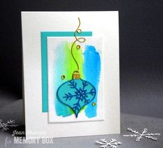 Karte von Memory Box: Glittered New Piccolo Snowflake Ornament Memories Box, Snowflake Ornaments, Snowflakes, Christmas Ornaments, Holiday Cards, Christmas Cards, Xmas, Cardmaking, Paper Crafts