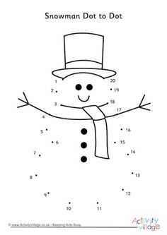Fruit shadow worksheet for kids crafts and worksheets for Snowman dot to dot coloring pages