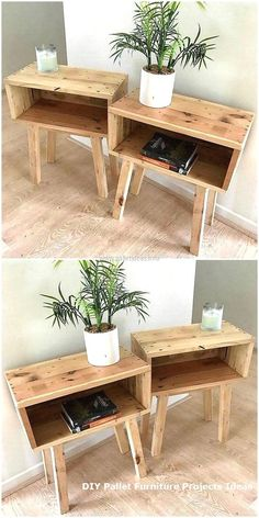 Living Room Decor Furniture, Decor, Pallet End Tables, Furniture Diy, Diy Decor, Rustic Furniture, Diy Home Decor, Furniture Projects, Furniture Decor