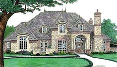 Like the idea of mstr bdrm private porch House Plan 66238 | Country Southern Plan with 3428 Sq. Ft., 4 Bedrooms, 5 Bathrooms, 3 Car Garage at family home plans