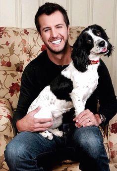 Luke Bryan + Puppy. You're welcome.
