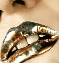 shinning gold lip