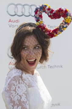 Anna Friel at the Glorious Goodwood Horse Race #millinery #judithm #hats