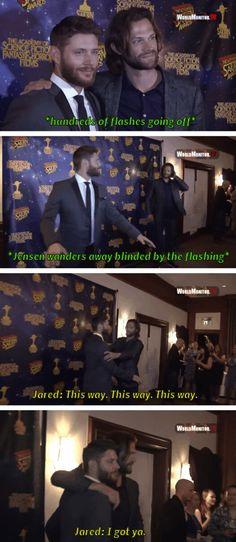 J2 @ Saturn Awards #Funny #JensenAckles #JaredPadalecki