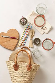 Anthropologie  Picnic-For-Two Basket
