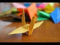 how to make a origami crane, a small crane