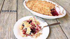 Crumble, prajitura cu prune si piersici, reteta simpla si rapida - YouTube