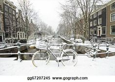 """Snowy Amsterdam in the Netherlands in winter"" - Winter Stock Photo from Gograph.com"