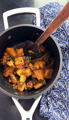 Pumpkin Kala Chana Bengali Style