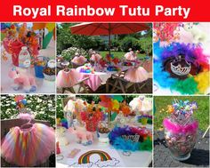 Image result for rainbow princess party