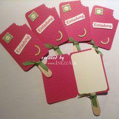 Großartig Einladungskarte Eis Am Stiel Melone Von INEZZA   Geschenkestübchen Auf  DaWanda.com