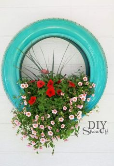 DIY tire planter -- 11 cute DIY spring projects to bright up your home
