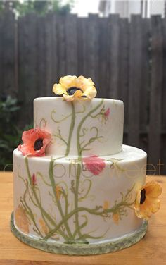 Specializes in custom cakes, wedding cakes, cupcakes, cookies and edible toppers for all occasions. Wedding Cake Fresh Flowers, Fall Wedding Cakes, Wedding Cakes With Cupcakes, Cupcake Cakes, Wedding Ideas, Pretty Cakes, Beautiful Cakes, Amazing Cakes, Simply Beautiful