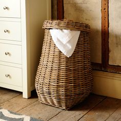 Tarsilia Laundry Basket - The Cotswold Company Country Interior, Modern Interior, Interior Design, Room Accessories, Decorative Accessories, Modern Country Style, Seat Pads, Wicker Furniture, Traditional House