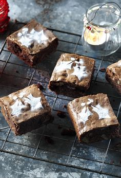 A hint of spice, glug of brandy and a scattering of cranberries transform these brownies into a Christmas treat.