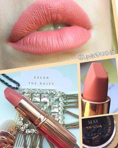 (@lipstickdatabase) on Instagram: Charlotte Tilbury Hot Lips Matte Revolution in Sexy Sienna