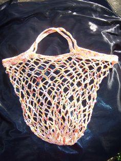 Einkaufstaschen - Netztasche gehäkelt - Beutel - Einkaufstasche - ein Designerstück von Pfefferkuchenmadel bei DaWanda