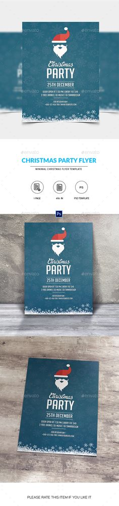 ◛ [Nulled]◧ Santa Christmas Party Flyer Christmas Christmas Party Creative Flyer Layout Home Party Invitation Christmas Poster, Santa Christmas, Christmas Design, Christmas Flyer Template, Minimal Christmas, Edit Text, Flyer Layout, Creative Flyers, Club Parties