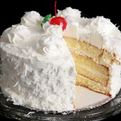 Vanilla cake with coconut