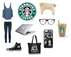 """""""Research at Starbucks"""" by obie-one ❤ liked on Polyvore featuring RVCA, Converse, rag & bone and Humör"""