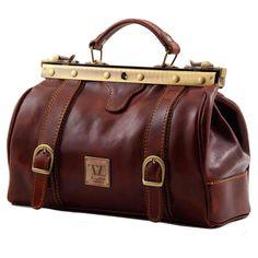 Brown leather vintage style bag. Ceri çanta.