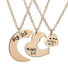 18ct Gold Plated Kigu Veronica Personalized Custom Name Necklace Heart Shaped