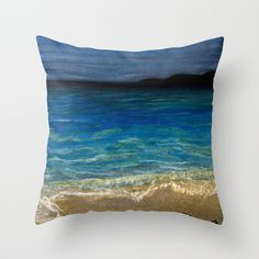 The+beach+Throw+Pillow+by+Art+By+Shellon+-+$20.00