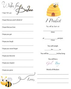 A to Z with a little J: Mommy to Bee Baby Shower