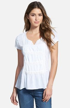 KUT+from+the+Kloth+Lace+&+Eyelet+Trim+Top+available+at+#Nordstrom