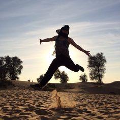#happy #free #Dubai #sunset #sand #desert #DesertSafari @platinumheritage #PlatinumHeritage