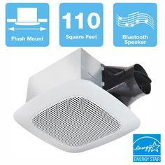 Increase the beauty of your apartment or office by selecting this Delta Breez Signature Series Ceiling Fan with Bluetooth Speaker. Shower Enclosure, Shower Tub, Bathroom Exhaust Fan, Bathroom Goals, Bathroom Ideas, Energy Star, Dimmable Led Lights, Bluetooth, Home