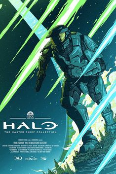 Halo MCC Xbox Game Pass poster - Xbox Games - Trending Xbox Games for sales - Halo MCC Xbox Game Pass poster Master Chief And Cortana, Halo Master Chief, Halo Game, Halo 5, Casco Halo, Halo Poster, Science Fiction, Halo Series, Halo Collection