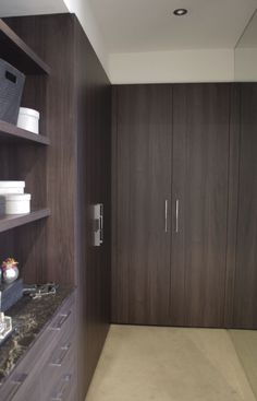 Beautiful joinery by Albedor in Navurban™ Smoky Bay Built In Furniture, Dream Furniture, Roller Doors, Decorative Panels, Panel Doors, Joinery, Modern Contemporary, Armoire, Tall Cabinet Storage
