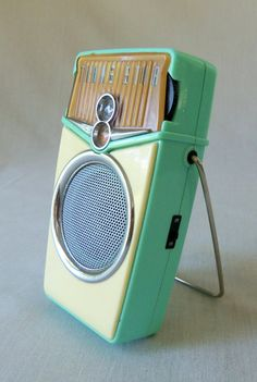 Retro Beach Boy AM FM Transistor Radio Aqua by BeeHavenHome SOLD