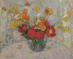 leon de smet   Leon De Smet - Bouquet of Flowers, 1917, Impressionism Paintings, Art ...