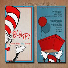 Baby Shower Ideas Dr. Seuss invitation