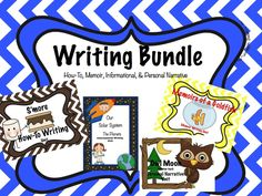 Writing Bundle (Informational, Memoir, How-to, and Personal Narrative) 2-3 Grade