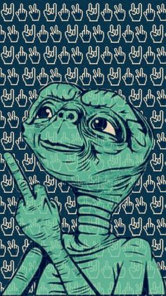 Wallpaper Animes, Trippy Wallpaper, Wallpaper Backgrounds, Alien Art, Trippy Alien, Alien Aesthetic, Ufo, Spaceship Art, Psychedelic Art