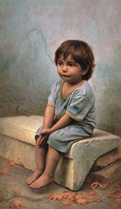 All Alone With Nowhere To Call Home~ Iman Maleki 1976 ~ Iranian Realist painter Portrait Art, Portraits, Art Texture, Iranian Art, Realistic Paintings, Oil Paintings, Beautiful Paintings, Love Art, Painting & Drawing