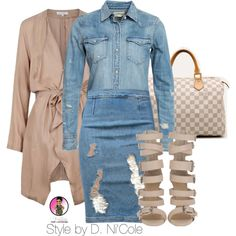 Untitled #2423 by stylebydnicole on Polyvore featuring polyvore fashion style Denim & Supply by Ralph Lauren Frame Denim Louis Vuitton