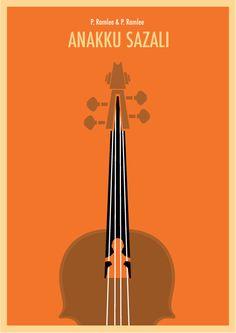 number two minimalist P.Ramlee poster