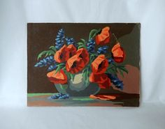 red poppies painting wall art wall decor needs framing by brixiana