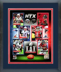 Super Bowl LI Match-Up Composite - 11 x 14 Matted/Framed Photo