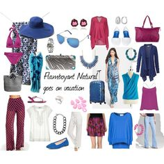 """""""Flamboyant Natural Goes On Vacation"""" by sarah-longwell-stevens on Polyvore"""