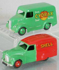 2 DINKY VANS : 470 Austin Shell/BP Van, 454 Cydrax Trojan Van