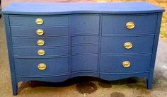 Serpentine Dresser with 9 Drawers By Dixie.