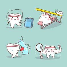 Vetores semelhantes a 127695674 cartoon tooth friend with dentist Dentist Cartoon, Tooth Cartoon, Funny Dentist, Humor Dental, Dental Logo, Dental Kids, Dental Art, Dentist Quotes, Dental Posters