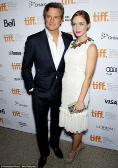 Emily Blunt with Colin Firth - re: Mr. Firth, [sigh], enough said....