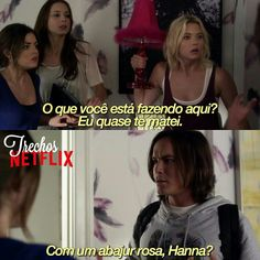 the classic pink flurry Pretty Little Liars Spencer, Pretty Little Lies, Hanna Y Caleb, Hanna Marin, Pll Frases, Pll Memes, Gossip Girl Quotes, Step Up Revolution, Beau Mirchoff