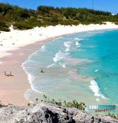 Surf and sunshine takes you to Bermuda where the sand is pink. Featured on Beach Bliss Living: http://beachblissliving.com/pink-sand-beach/